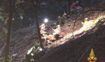 Si allontana dal sentiero e cade per 30 metri in un dirupo: in salvo un 49enne di Bergamo