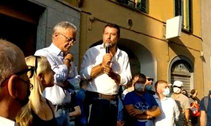Salvini a Caravaggio attacca Mangoni, Conte e il Green Pass - Il video