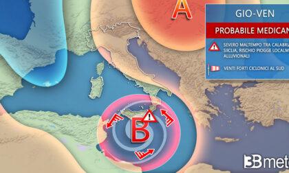 Rischio Medicane al Sud e da Ognissanti maltempo anche al Nord