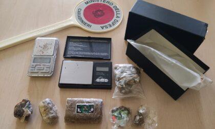 Arrestato a 18 anni con quasi due etti di hashish e marijuana