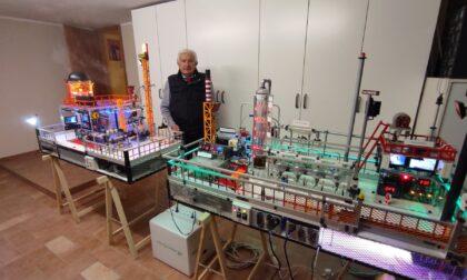 Il pensionato Franco Ferla è il re degli impianti in miniatura