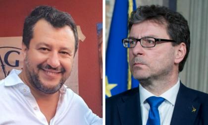 Salvini e Giorgetti a Caravaggio per sostenere Giuseppe Prevedini